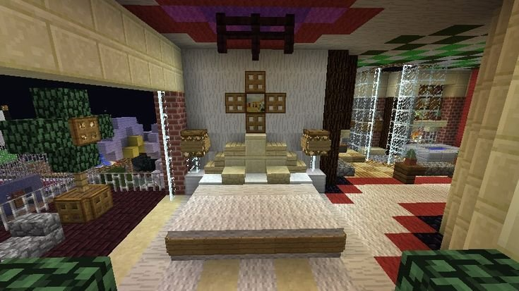 Best Minecraft Furniture Bedroom A Large Bed With Unique With Pictures