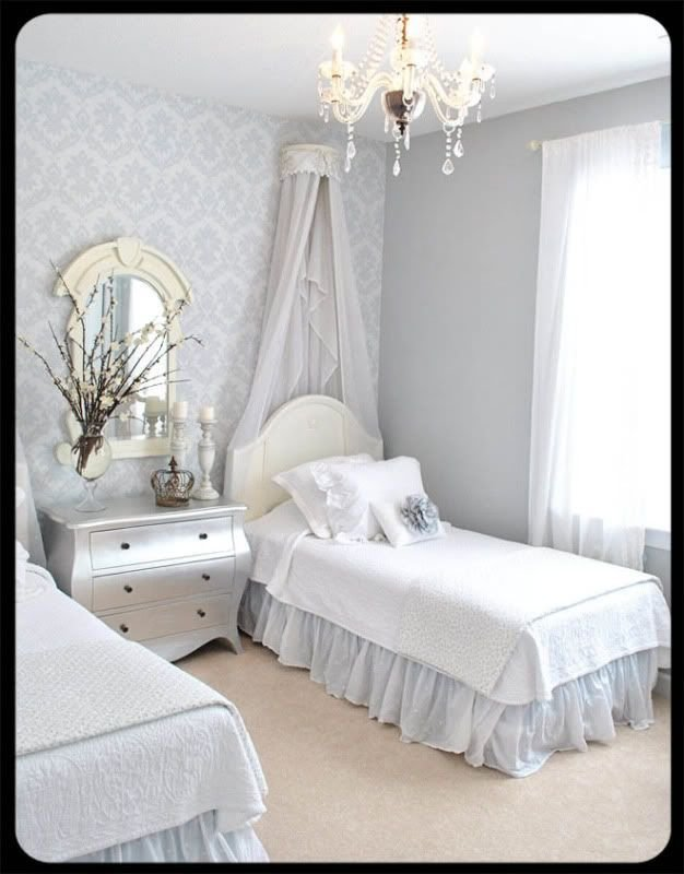Best Girls Silver Grey Bedroom Paint Pebble Beach Benjamin With Pictures
