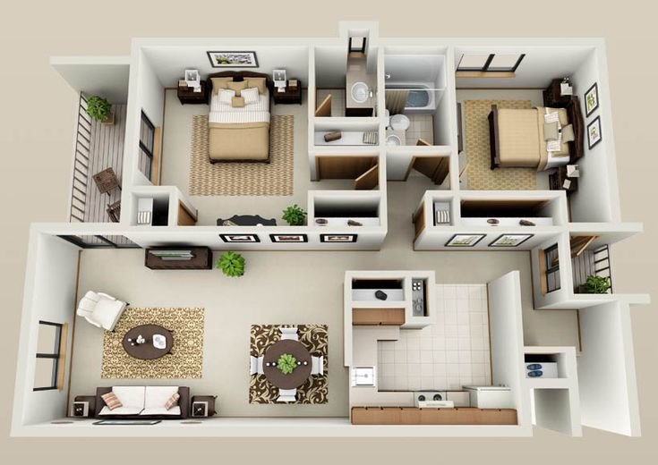 Best Two Bedroom Apartment Floor Plans Google Search Ètelek With Pictures Original 1024 x 768