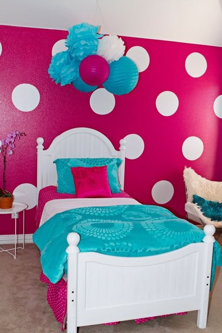 Best Girls Room Kbhome Emma Pinterest Girls Teal Bed And Polka Dots With Pictures