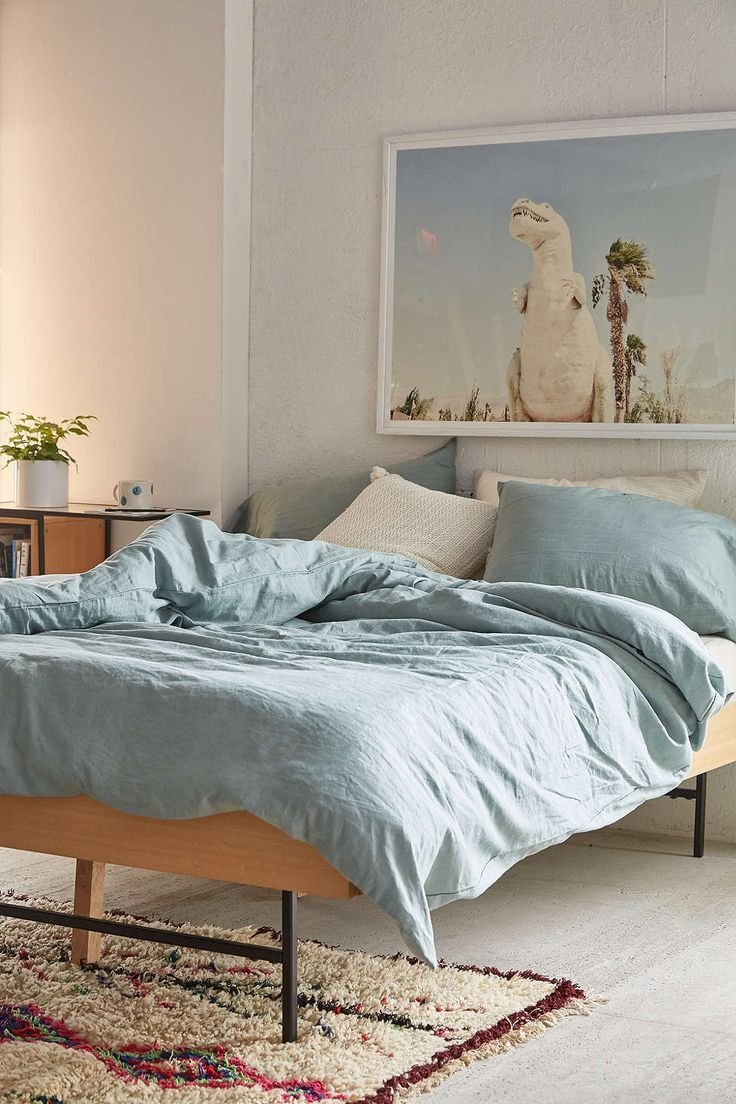 Best Assembly Home Linen Blend Duvet Cover Urban Outfitters With Pictures