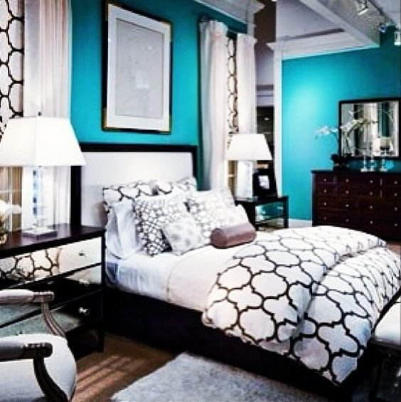 Best 22 Best Images About Black White And Teal Bedroom On With Pictures
