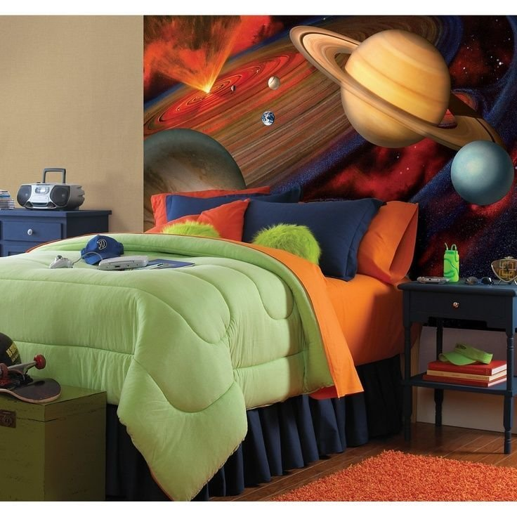 Best I Love This Outer Space Theme For A Boys Bedroom My 5 With Pictures
