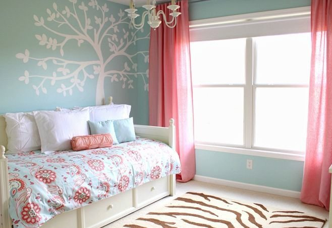 Best Teal White And Coral Bedroom Coral Pinterest Kid With Pictures