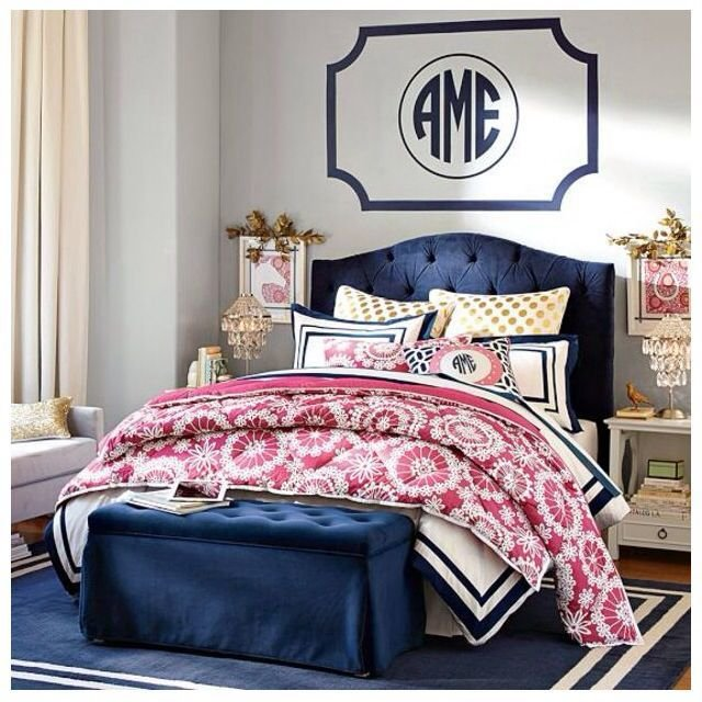 Best Navy And Pink T**N Bedroom From Pbteen Bedrooms With Pictures