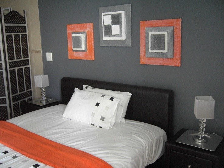 Best Orange And Grey Bedroom Love The Colors Especially Like With Pictures