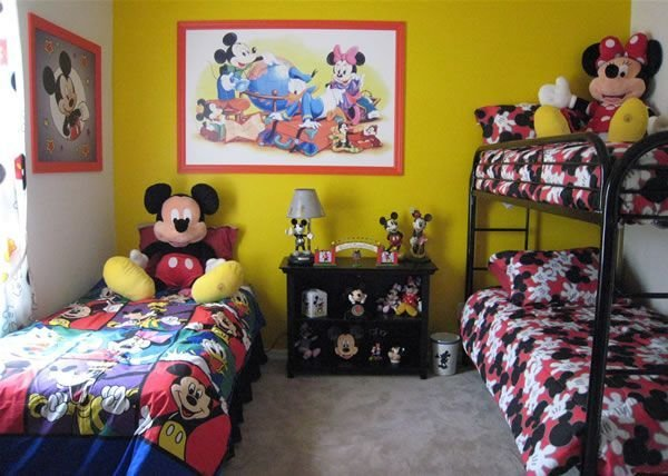 Best Mickey Mouse Bedroom Decor In Baby Kids Furniture With Pictures