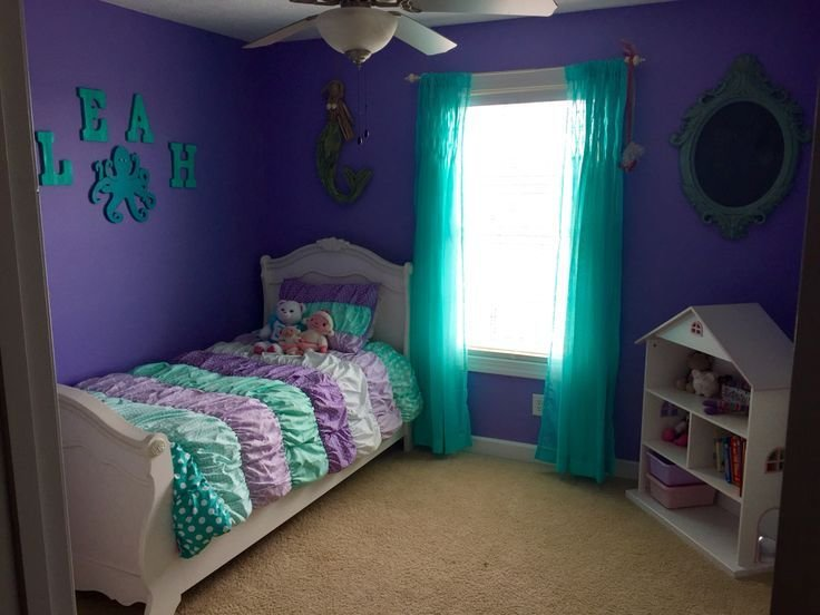 Best Purple And Teal Mermaid Room Leah Pinterest Colors With Pictures