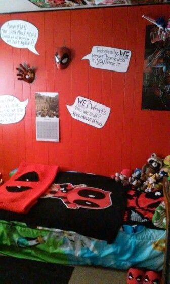Best 1000 Images About The Deadpool Bedroom On Pinterest We With Pictures