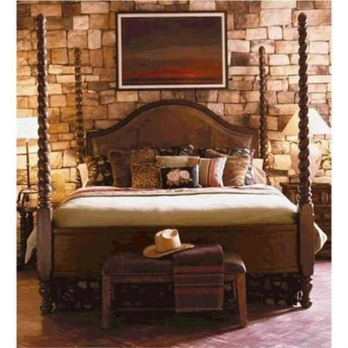 Best Lakeridge Queen Barley Twist Leather Poster Bed By Lane On With Pictures