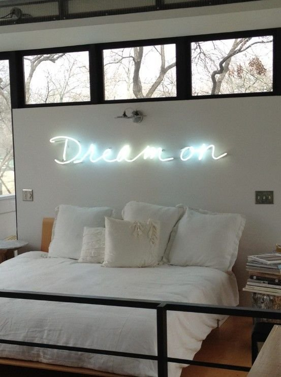 Best Dream On Neon Sign Bedroom Bedroom Pinterest Beautiful Lighting And On Light With Pictures