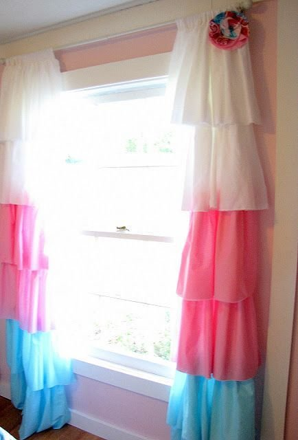 Best Diy Curtains Cute For A Little Girl S Room Matches Brylees Bedding And Her Decorations Too With Pictures