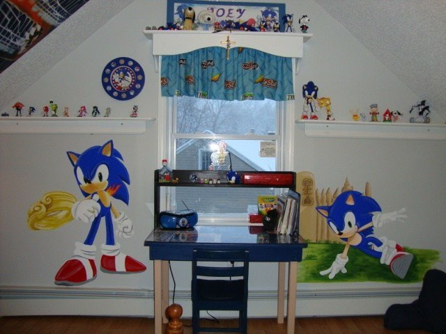 Best Sonic The Hedgehog Mural My Lil Bro Would Love This Kids With Pictures
