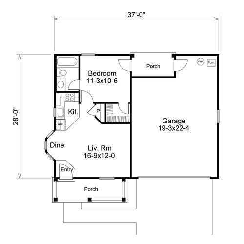 Best 1 Bedroom Garage Apartment Floor Plans Hmm I Might Could Do A Two Car Garage With A Two Bedroom With Pictures