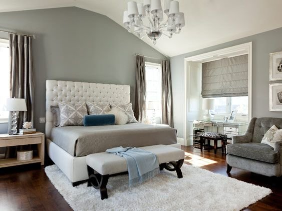 Best Elegant Bedroom Grey White And A Splash Of Blue Bedrooms Pinterest Grey Los Angeles With Pictures