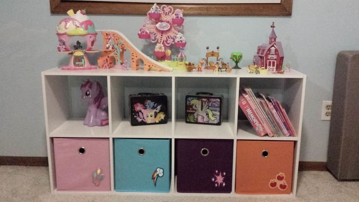 Best My Little Pony Shelf With Storage Bins And Books My With Pictures
