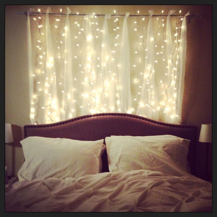Best Headboard With String Lights Home Bedroom Pinterest Diy Headboards Starry Nights And With Pictures