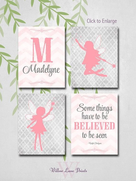 Best Girls Bedroom Wall Art Fairy Wall Decor Baby Girl With Pictures