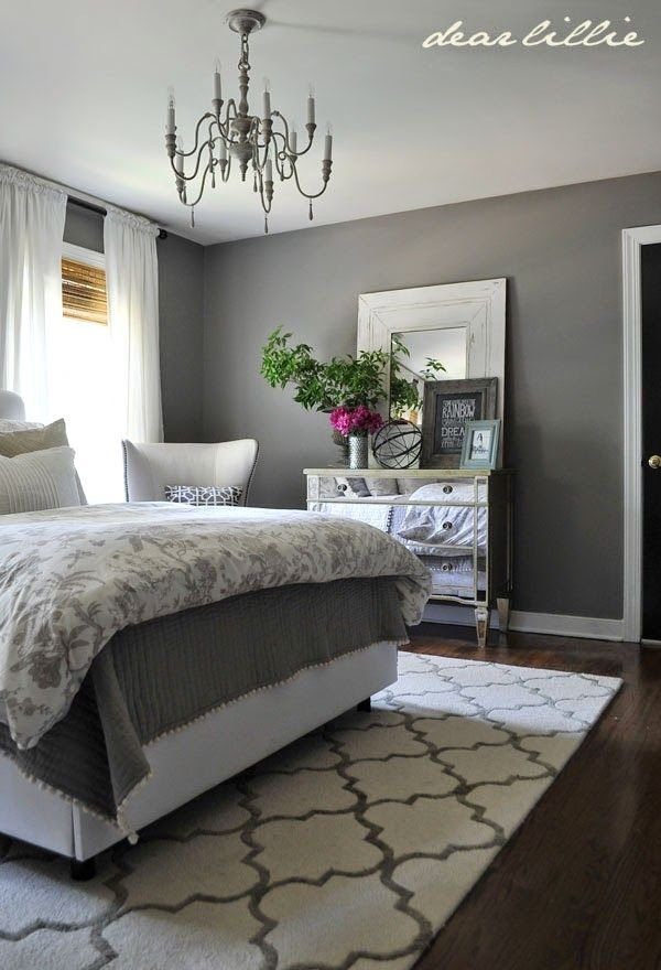 Best Some Finishing Touches To Our Gray Guest Bedroom By Rug With Pictures