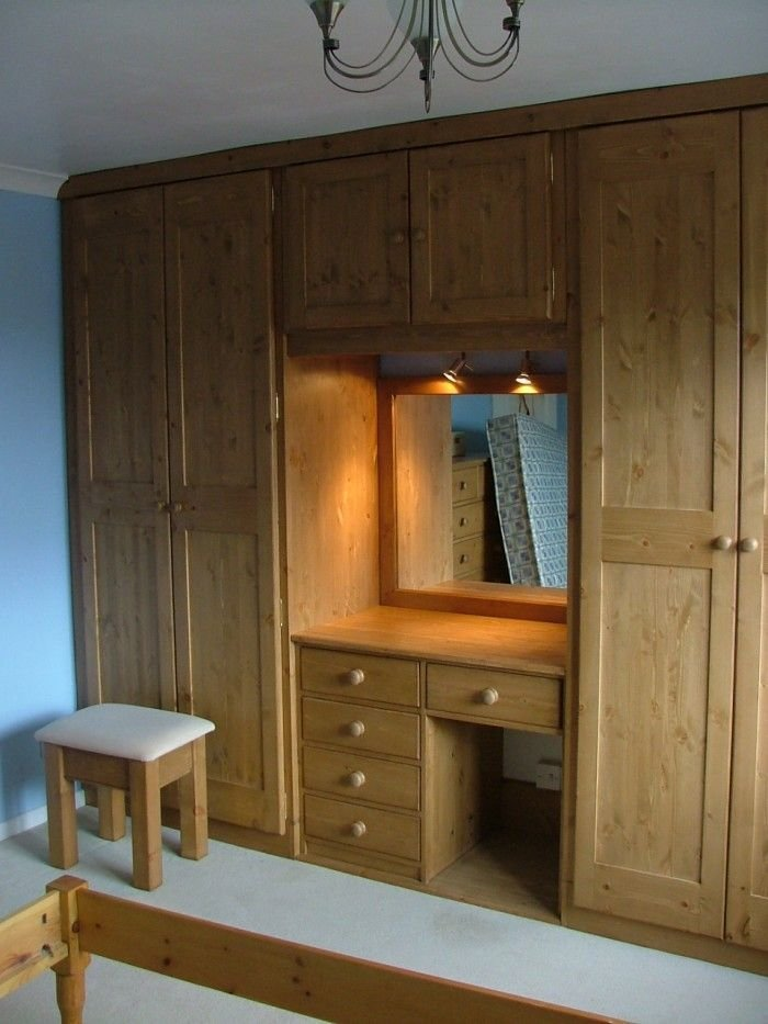 Best Bedroom Cupboard Designs With Dressing Table Cupboards With Pictures