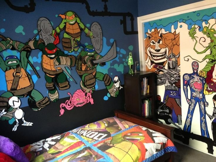 Best Hand Painted Teenage Mutant Ninja Turtle Bedroom Wall With Pictures