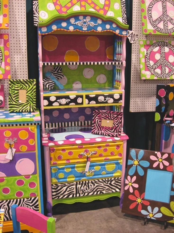 Best Funky Hand Painted Furniture Girls Rooms Pinterest With Pictures