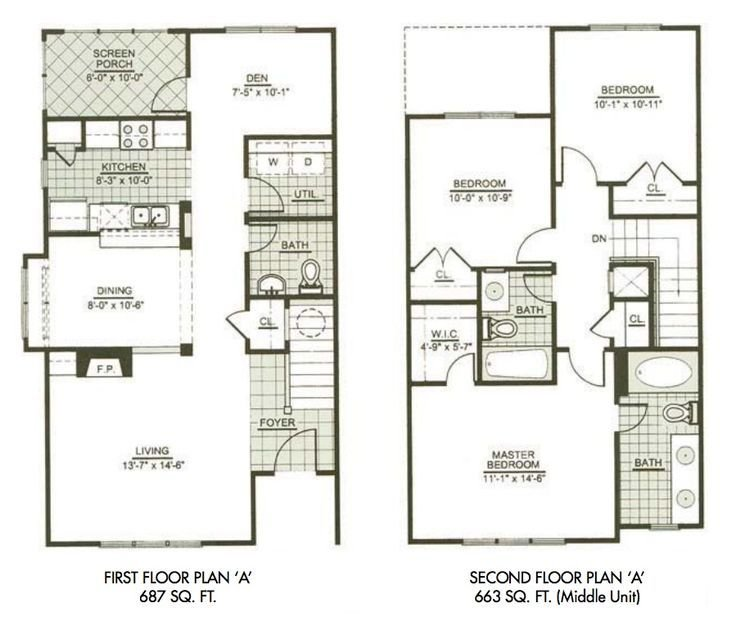 Best Modern Town House Two Story House Plans Three Bedrooms With Pictures