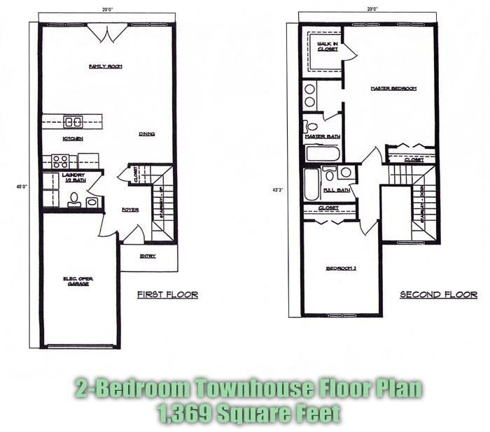 Best Many Other Plans 2 Bedroom Townhouse Floor Plans Brandl With Pictures