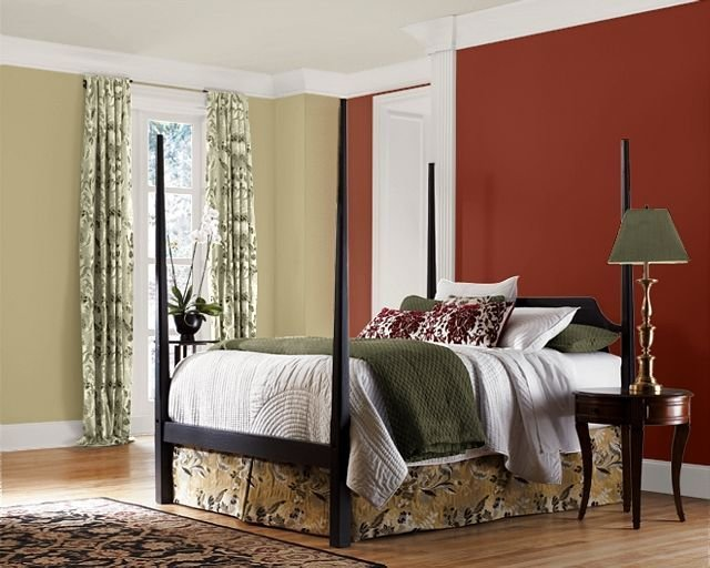 Best Accent Wall Color For Bedrooms Brick Red Accent Wall With Pictures