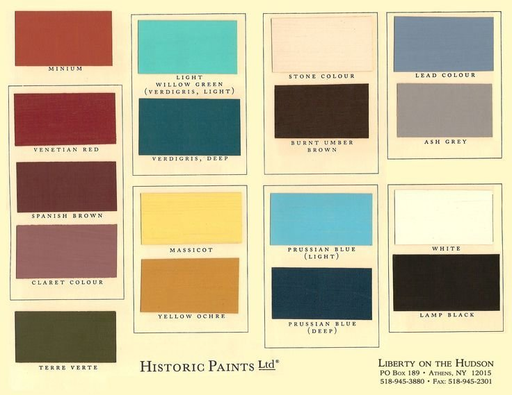 Best Kwal Paint Color Chart Historic Paints Ltd Bedrooms With Pictures