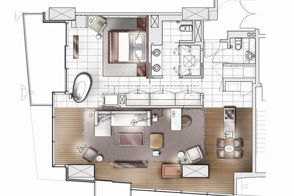 Best Palms Place One Bedroom Suite Floor Plan My Dream House With Pictures