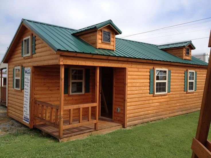 Best 14X28 Modular Amish Cabin Move In Ready True Four Seasons Cabin Seasons Ebay And Construction With Pictures