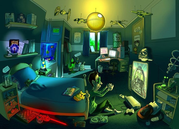 Best Geek Room Drawing Illustrations And Posters Pinterest With Pictures