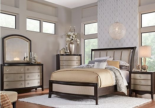 Best Shop For A Le Claire 5 Pc King Sleigh Bedroom At Rooms To With Pictures