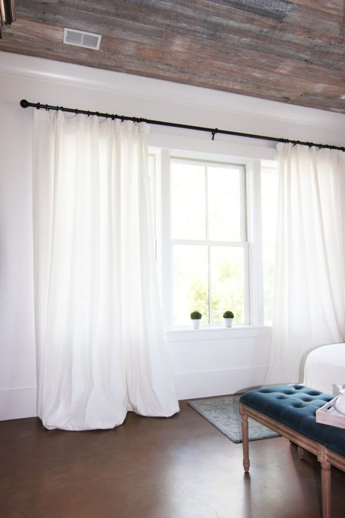 Best Get The Look White Linen Drapes Curtain Rods Get The Look And Nature With Pictures