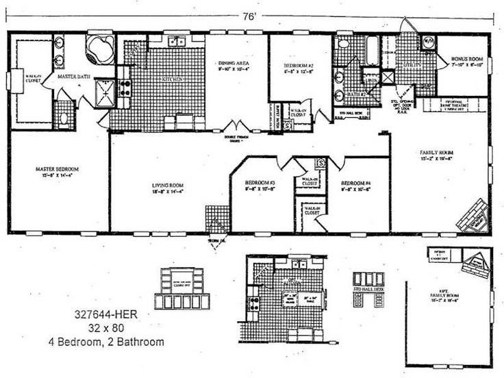 Best 2 Bedroom Double Wide Mobile Home Floor Plans Http With Pictures
