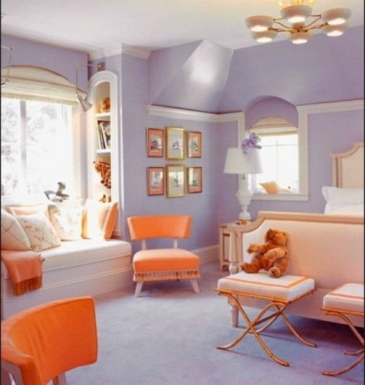 Best Creamsicle And Lavender Girls Bedroom Shelby Would Love With Pictures