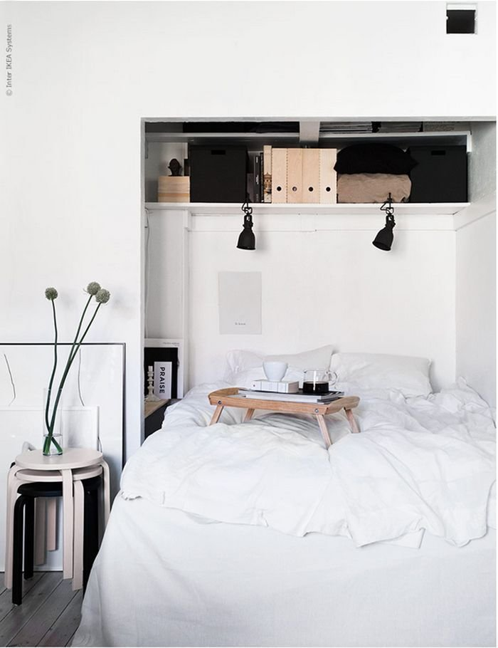 Best 5 Cool New Decorating Tricks From Ikea Spotlight On Light And Bed In Closet With Pictures