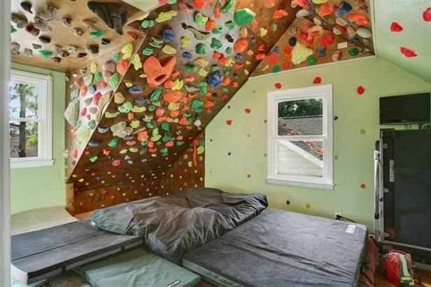 Best A Home Workout Room With A Rock Climbing Wall Now I Ve With Pictures