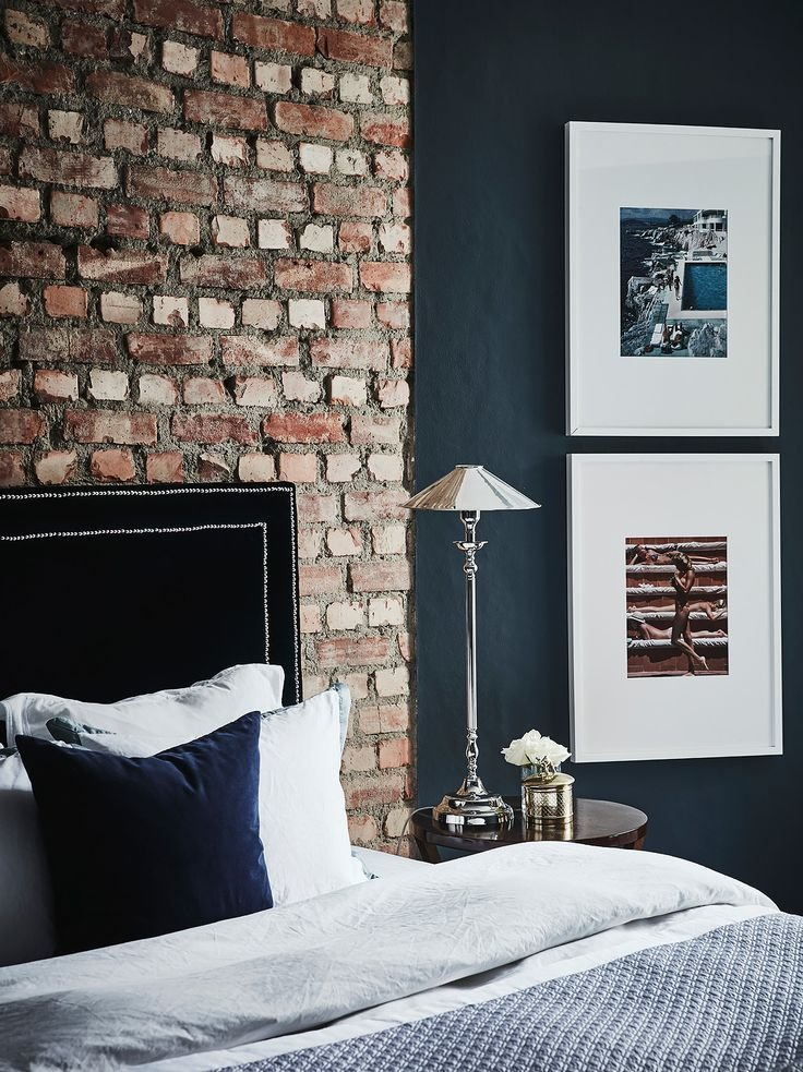 Best Exposed Brick In The Bedroom Small Cool Black Beauty In With Pictures