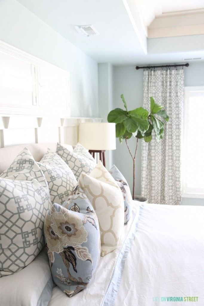 Best Spring Refresh In Our Master Bedroom Sea Salt Paint And With Pictures