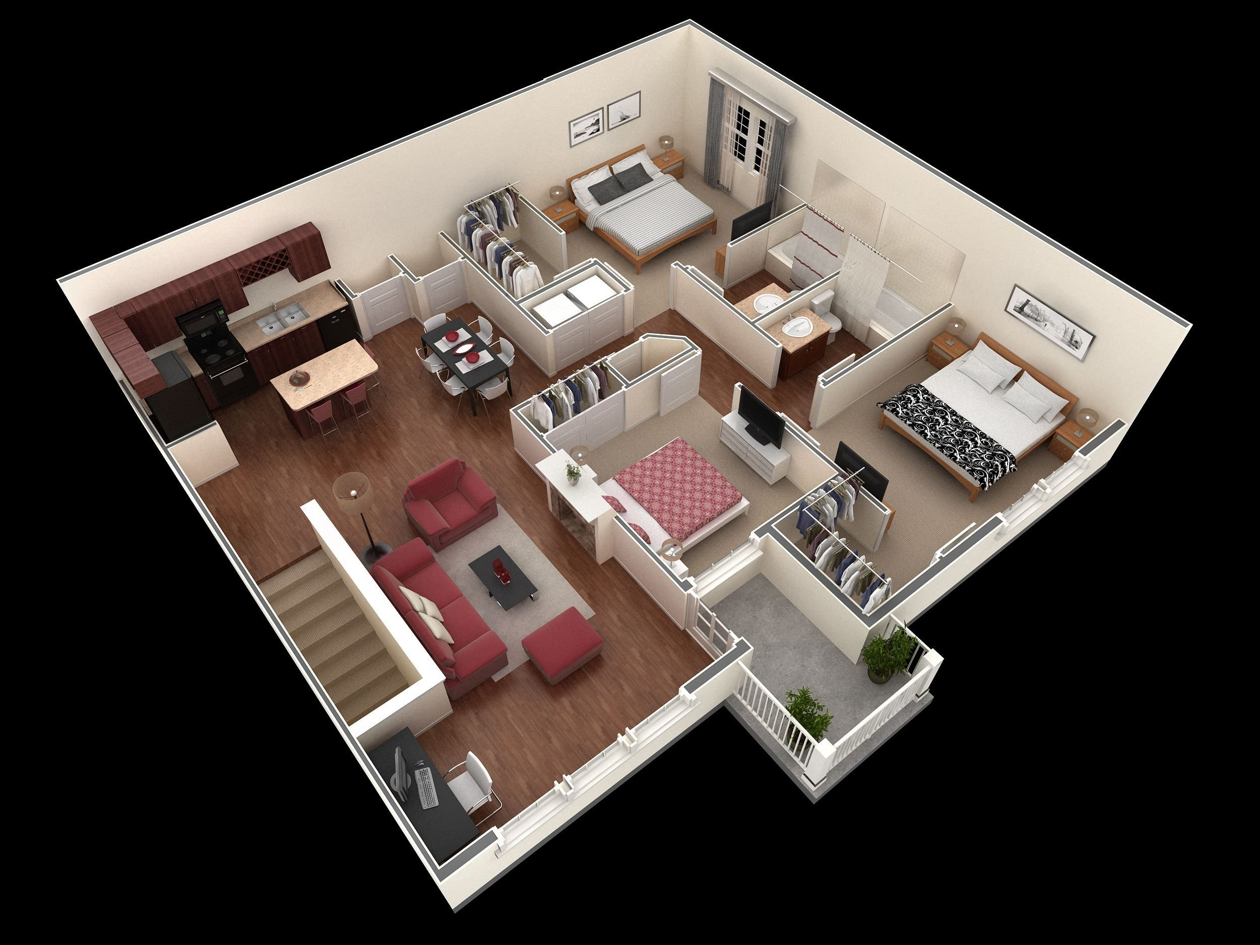 Best 3 Bedroom 2 Bath 1 404 Sf Apartment At Springs At Tech With Pictures