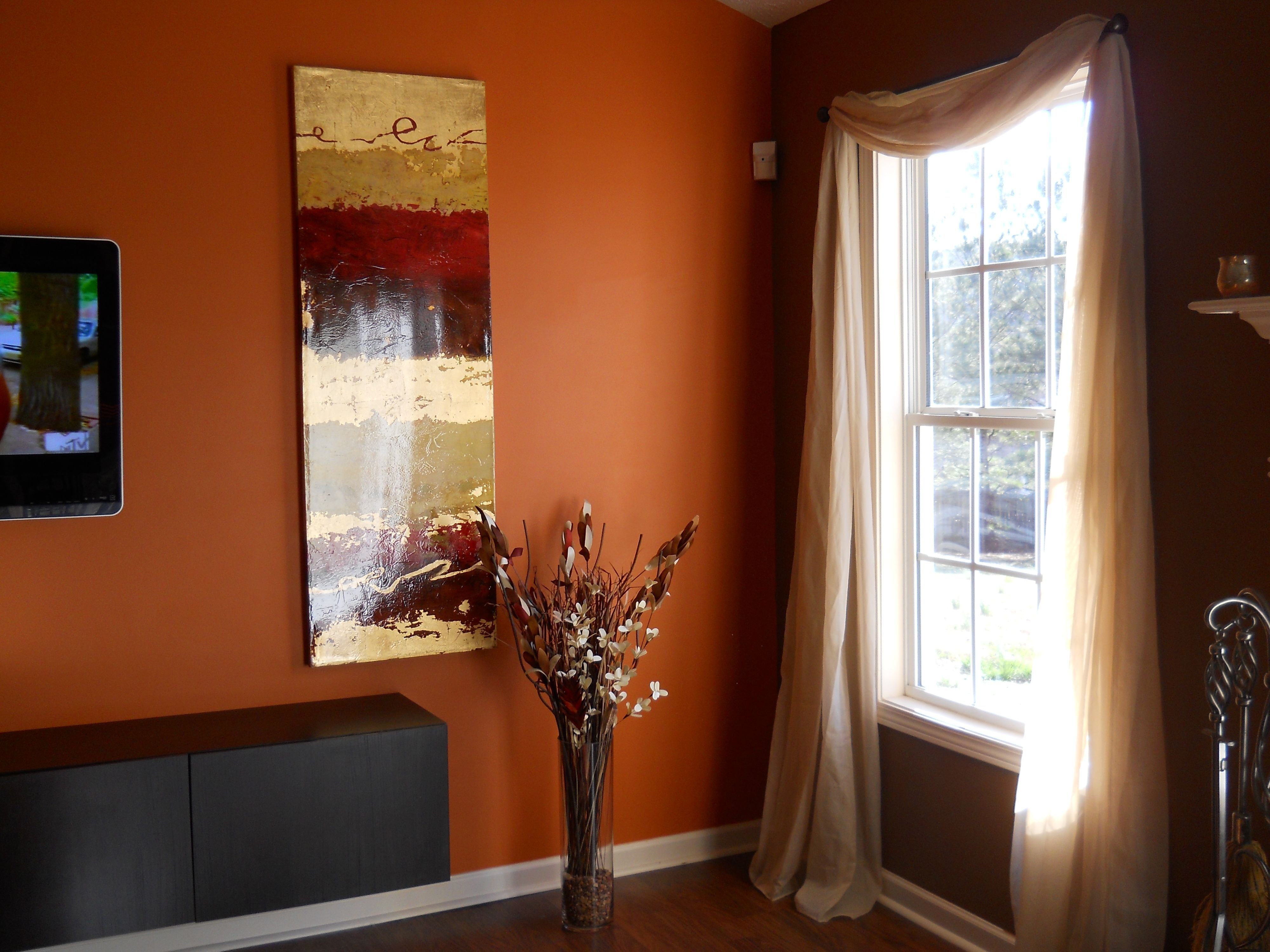 Best Living Room Chocolate Brown Walls With Copper Orange With Pictures