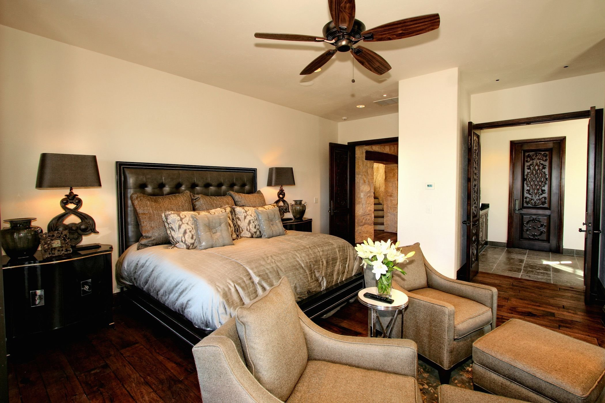 Best Eclectic Spanish Style Lake Home Bedroom By Zbranek Holt With Pictures