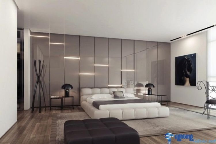 Best Led Wall Lights Gray Glossy Wall Panels With Led Str*P With Pictures