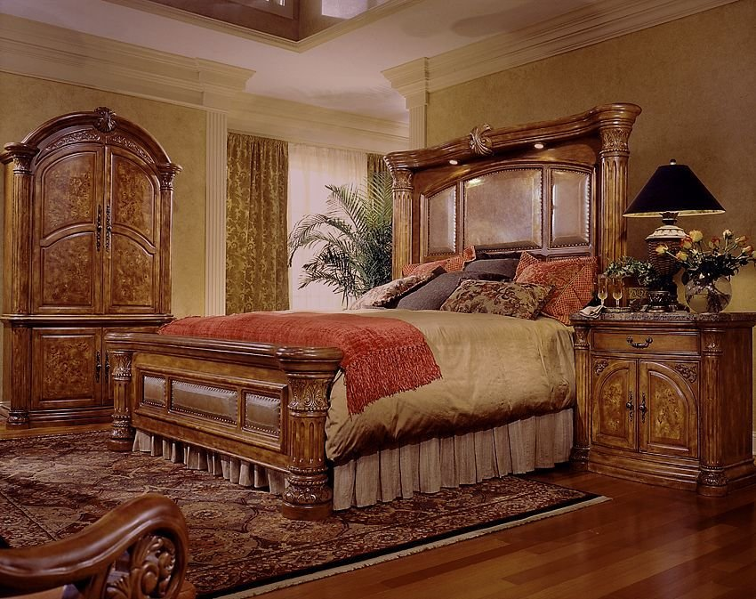 Best Aico Furniture Monte Carlo 8 Piece Mantel Bedroom Set With Pictures
