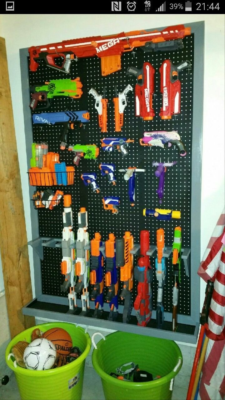 Best Nerf Gun Rack Boom Boom Pinterest Guns Room And With Pictures