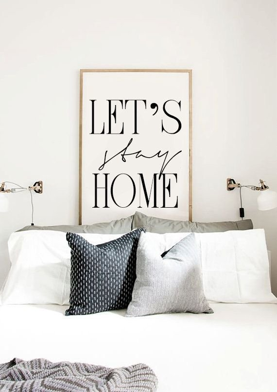 Best Let S Stay Home Printable Bedroom Poster Scandinavian With Pictures
