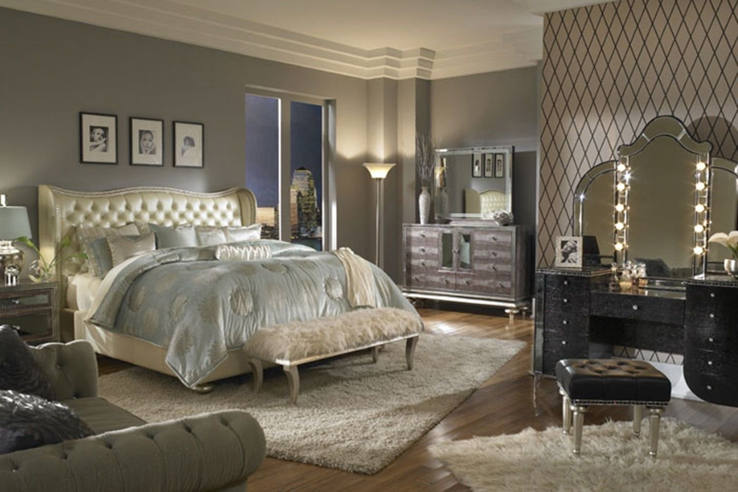 Best Hollywood Swank Bedroom In Pearl Bedroom Sets Shop With Pictures