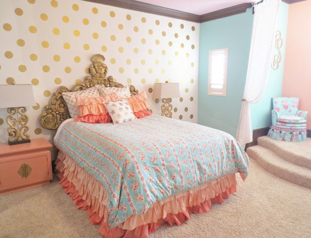 Best Coral Mint And Gold Room Design Crib Room And Gold With Pictures